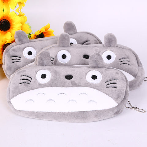 Lovely Soft Plush TOTORO Pen Pencil Bag Case Cosmetic Purse Zipper Bag Coin Pouch Stationery
