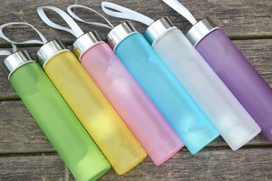 1Pc Matte Plastic Water Bottles Outdoor Travel