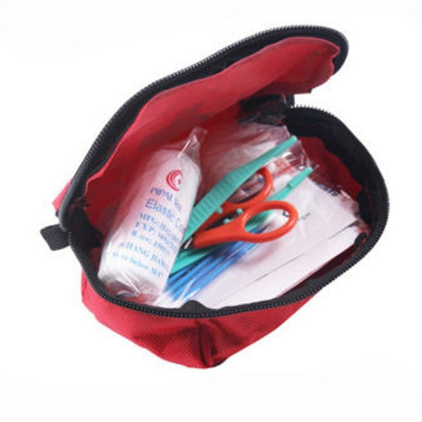 Travel First Aid Kit Red Camping Bandage Drug Emergency Waterproof Survival Bag
