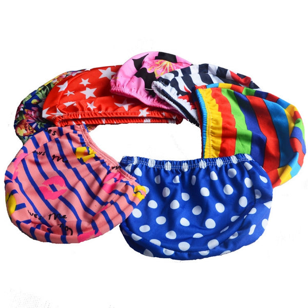 1/3/5pieces Men Women Adults kid children Print Swim Caps