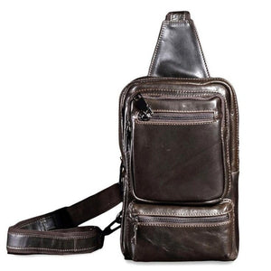 Casual Messenger Bag Men Chest Pack Single Shoulder Strap Back