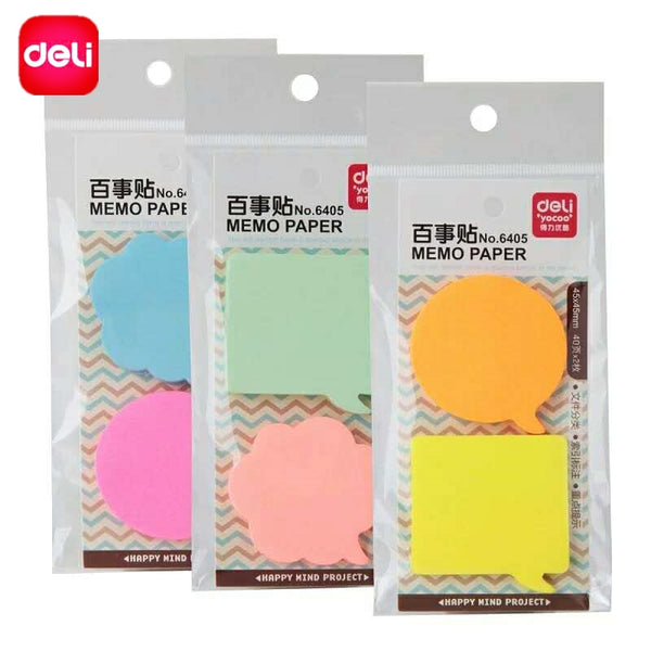 Deli 80 sheets Korean Sticky Notes