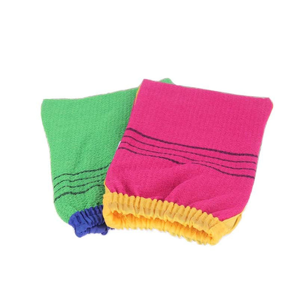 Shower Spa Exfoliator Two-sided Bath Glove Body Cleaning Scrub Mitt Rub Dead Skin Removal