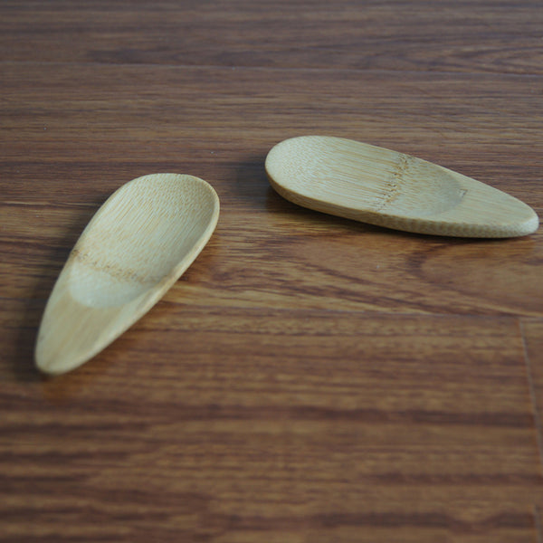 Melon Seed Shape Bamboo Tea Spoon