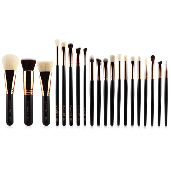 20pcs/set Professional Wooden Handle Soft Hair Makeup Brushes