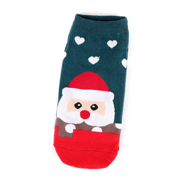 Cute Boat Socks, Autumn and Winter, New Low-cut Socks, Santa Socks, Women, Breathable, Sweat-absorbent Cotton Socks