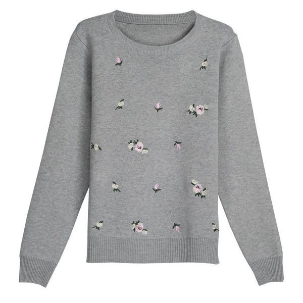 Autumn Women Casual Sweater Embroidery Knitted Winter Women Sweater And Pullover Female Tricot Jersey Jumper Pull Femme