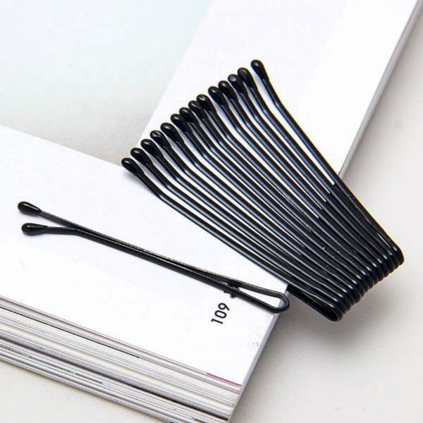56Pcs/Set Women Lady Girl Black Metal Waved Hair Bobby Clip Salon Pin Grip Hairpin Barrette Hair Styling Accessories Tools