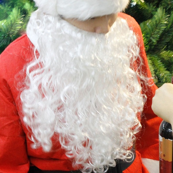 Christmas Adult Child Cosplay Santa Claus White Beard