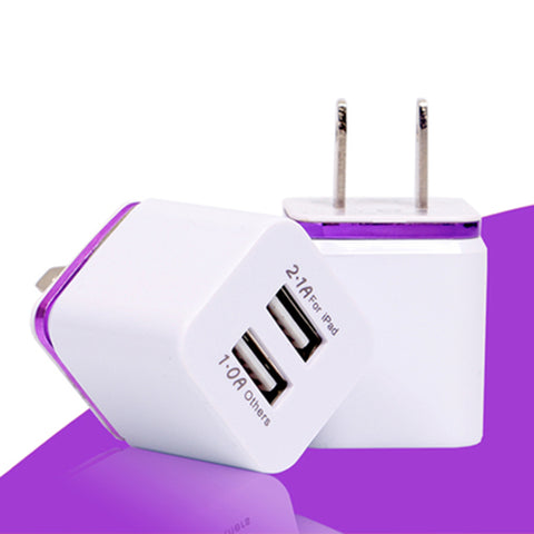 US Plug 5V  Dual USB Charger for ipad iPhone Samsung HTC CellPhones