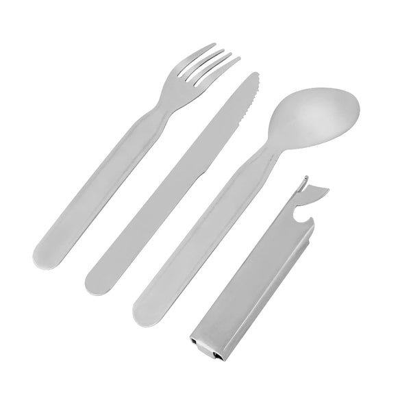 4pcs/set Portable Tableware Outdoor Picnic Utensils