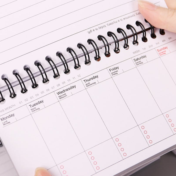 Cartoon Weekly Planner Notebook Agenda