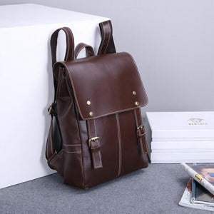 Fashion men's Bags Genuine Leather Women Girl Students School Bag