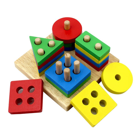 Baby Toys Wooden Geometric Shapes