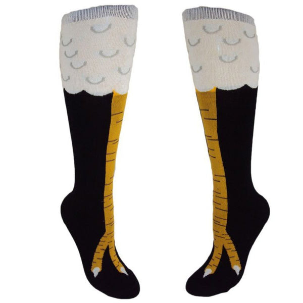 1Pair 4 Styles Fashion Creative Women Chicken Socks With Chicken Print toe Women 3D Cartoon Thigh Chicken Toe Feet Socks