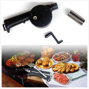 Outdoor Cooking Hand - cranked BBQ Fan Air Blower Barbecue Tool