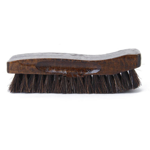 Professional Natural Bristle Horse Hair Shine Wooden Shoe Brush