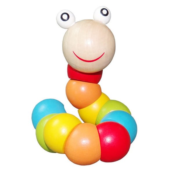 Worm Toys Colorful Puzzles Educational Wooden Toys
