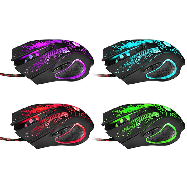 6D USB Wired Gaming Mouse 3200DPI  for PC Laptop Games Mice