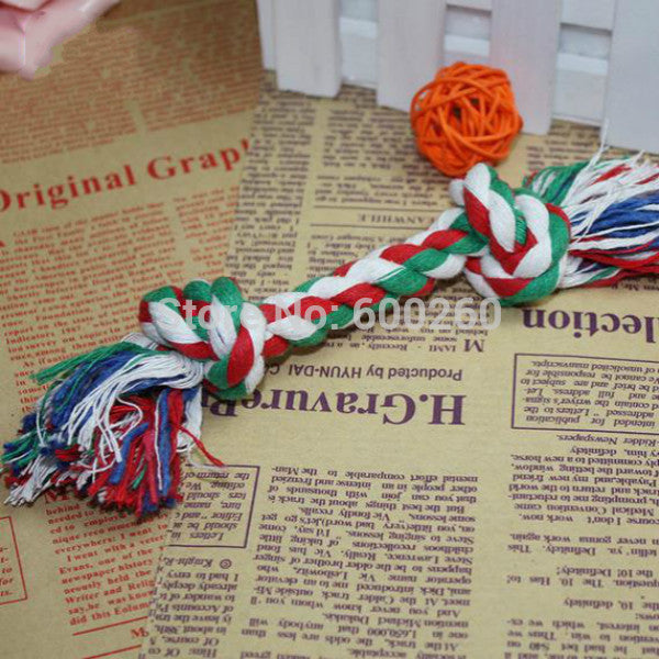 Puppy Cotton Chew Knot Toy Braided Bone Rope