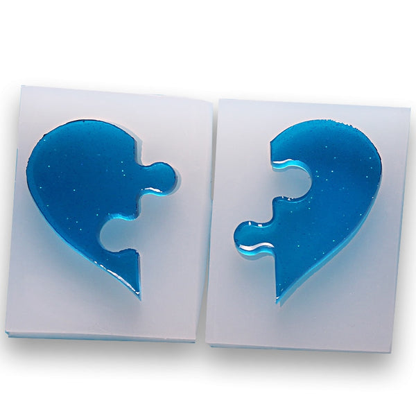 Puzzle Heart Shaped Silicone Mold Baking Tool