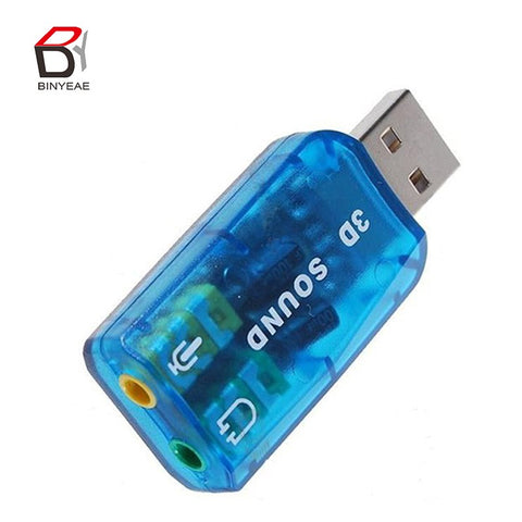 USB 2.0 Sound Card USB Audio 5.1 External USB Sound Card Audio Adapter Mic Speaker Audio Interface For Laptop PC Micro Da