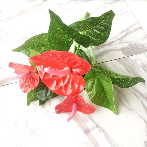 Artificial Flower Red Palm Bouquet