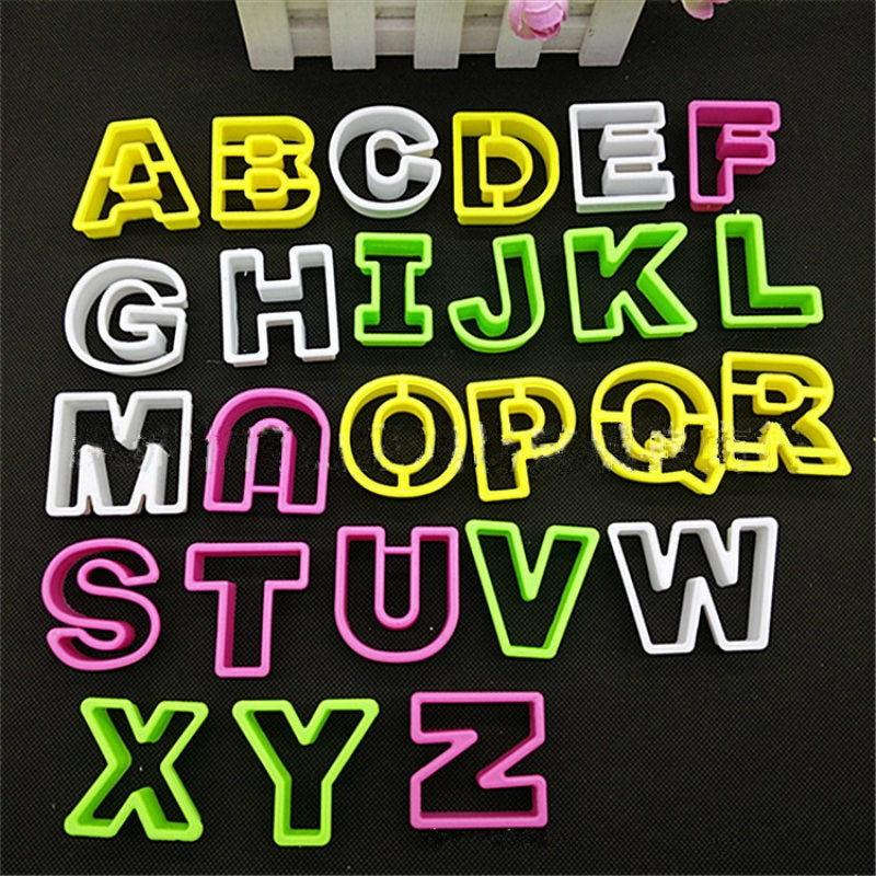 26 Pieces Alphabet Letter Cake Decorating Set - Fondant Icing Mould DIY
