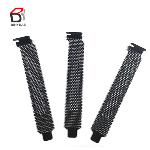10 Pcs Steel Hard Filter Dust Plate Blanking Slot with Cover Screws