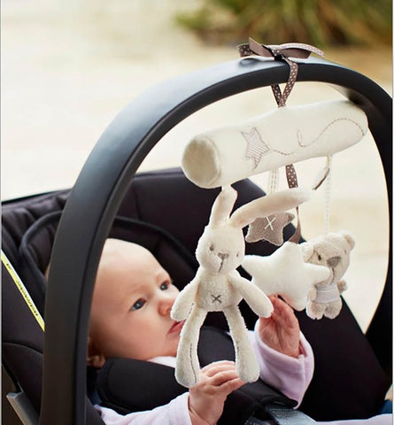 Baby Rabbit Toys Stroller Accessories Hanging Plush Educational Toy