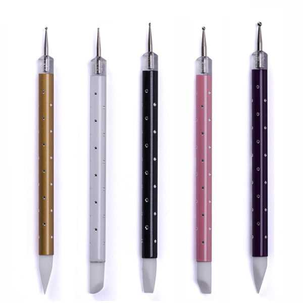 Double Head Nail Art Silicone Pen Brush Sculpture