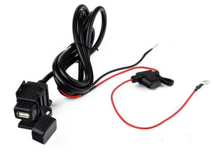 12V / 24V Charger Outlet Waterproof USB 2.1A Motorcycle Car Adapter