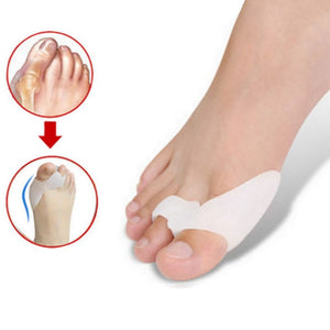 1Pair Hallux Valgus Corrector Bone Thumb Orthotic Orthopedic Silicone Big Toe Separator Bunion Corrector Pedicure Foot Care Tool