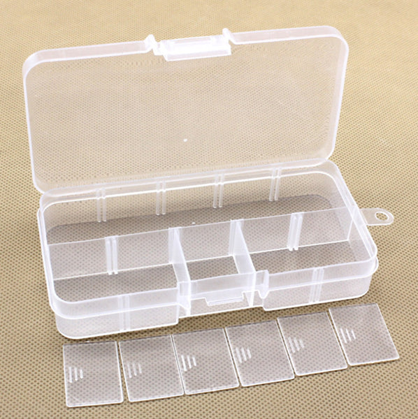 10 Slots Compartment Plastic Adjustable Boxes Craft Case Jewelry Bead Organizer Storage Container