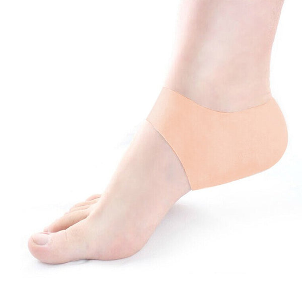 New Light Thin Unisex Silicone Gel Heel protector Soft Elastic Relieve Pain Protection Cover Cracked Foot Moisturizing Feet Care