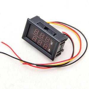 DC 3.5-30V 0-50A Dual LED Digital Amp & Volt Meter