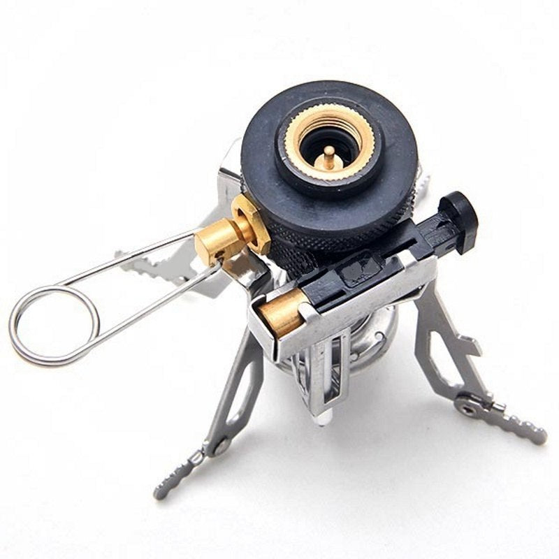 Portable Outdoor Camping Gas Stove Mini Stove with Electronic Stove Burner Head
