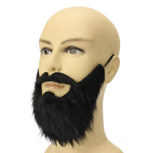 Fashion 1pc Funny Costume Party Male Men Halloween Fake Beard Facial Hair Disguise Game Black Mustache Mask