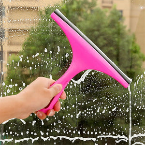 Colorful Window Mirror Car Windshield Squeegee Glass Wiper Silicone Blade Cleaning Shower Screen Washer