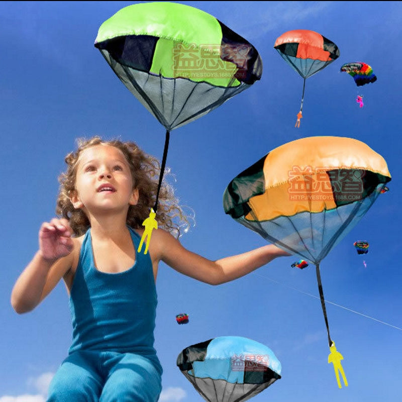 Children Outdoor Sportsman Throwing Mini Game Parachute Soldier Fitness Toys Flying Umbrella Equipment Plastic Parachute