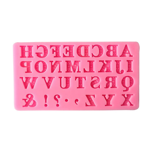 3D Alphabet Silicone Fondant Mold Cake Chocolate Sugar Cutter
