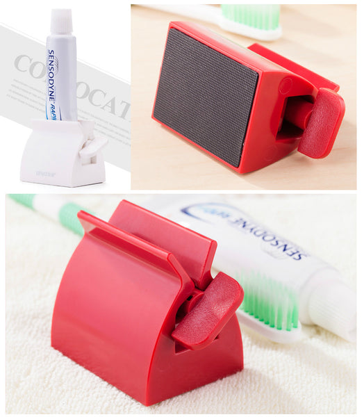 Multifunctional Bathroom Plastic Cream Tube Squeezing Dispenser Rolling Tube Squeezer Tooth Paste Squeezer Toothpaste Dispenser