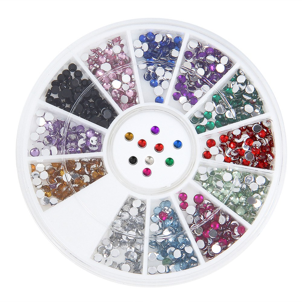 1.5mm Nail Art 3D Tips DIY Rhinestone Decoration