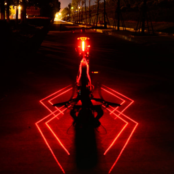 New Bicycle Light Taillight Warning Light Spiderman