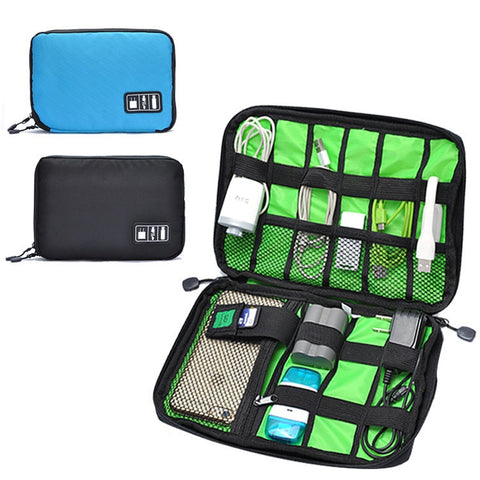 Organizer Power Line Earphone Wire Data Cable Storage Bag Travel Bags