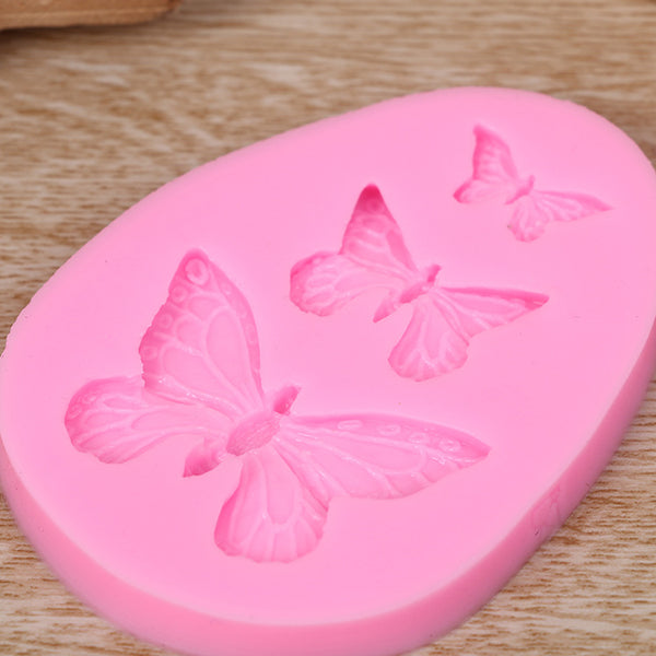 3D Silicone Mold Butterfly Shaped Fondant Cake