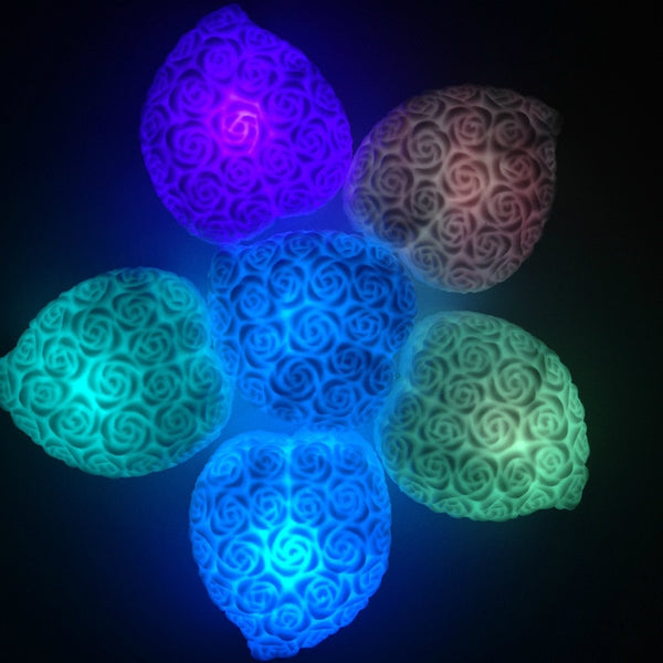 Color Changing Roses Heart LED Decoration Candle Lamp