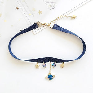 Star Moon Earth Chocker Necklace