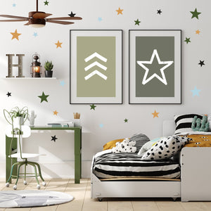 All Star | Removable Fabric Wall Decals Wall Decals Blond + Noir