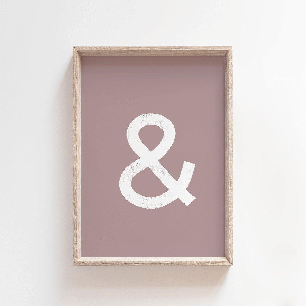 Ampersand | Modern Art Print Art Prints Blond + Noir